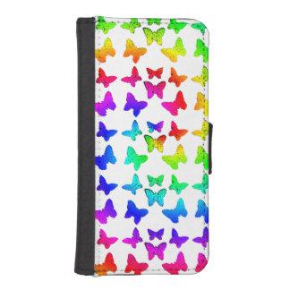 Rainbow Swirl Butterflies Phone Wallets