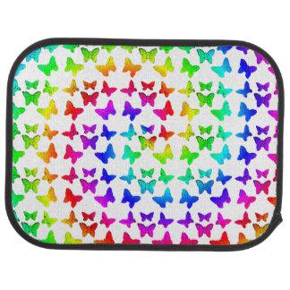 Rainbow Swirl Butterflies Car Mat