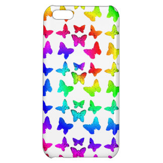 Rainbow Swirl Butterfly Pattern iPhone 5C Cases