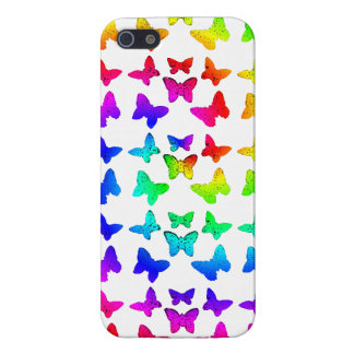 Rainbow Swirl Butterfly Pattern iPhone 5 Cover