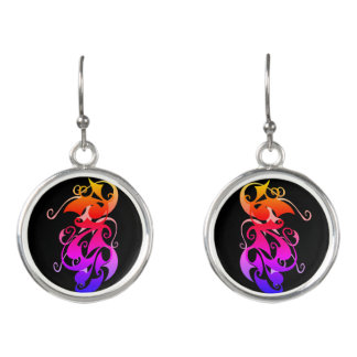 Rainbow Swirl Earrings