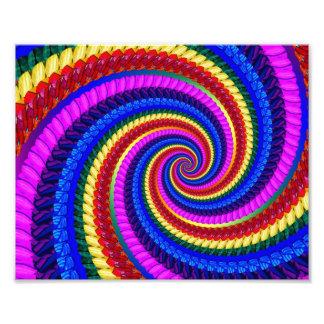 Rainbow Swirl Fractal Pattern Photo Print
