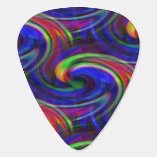 Rainbow Swirl Guitar Pick