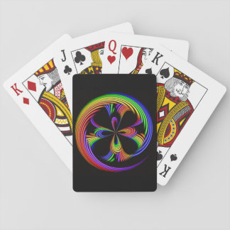 Rainbow Swirl Playing Cards Poker Classic