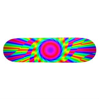 Rainbow swirl skate board