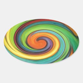 Rainbow Swirl Stickers