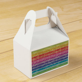 Rainbow Swirls Gable Favour Box