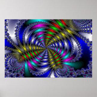 Rainbow Swirly Poster