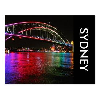 rainbow sydney bridge postcard