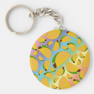 Rainbow tacos key ring