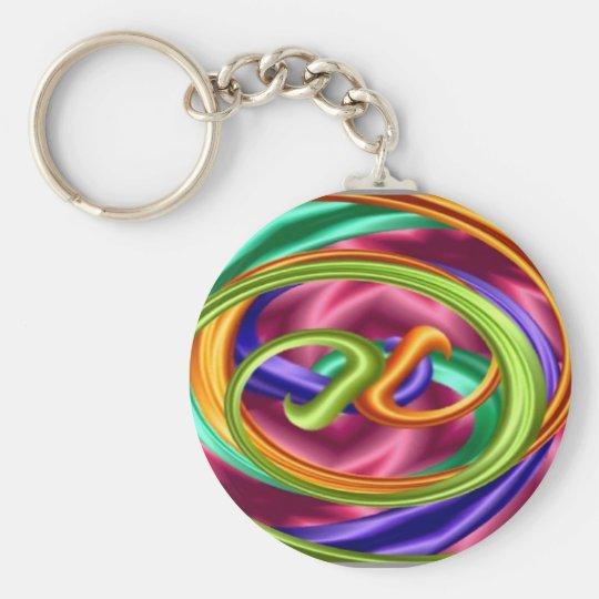 Rainbow Taffy Pull Key Chain