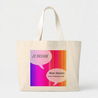 Rainbow Talk Bubble Jumbo Tote Bag