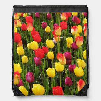Rainbow Tapestry Drawstring Bag
