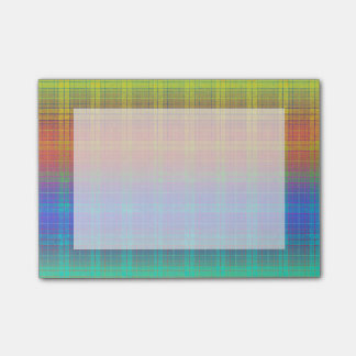 Rainbow Tartan Plaid Customize or Go Bold Plaid Post-it Notes