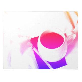 Rainbow Tea Breakfast in Bed Coffee Cup Notepad
