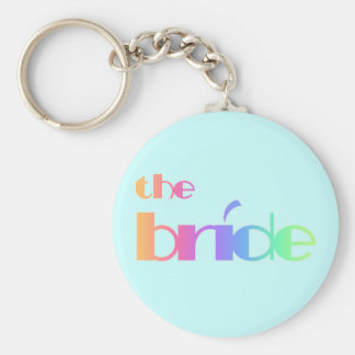 Rainbow Text Bride Tshirts and Gifts Key Chains