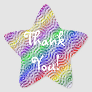 Rainbow Thank You Star Sticker