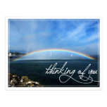 Rainbow Thinking of You Postcard