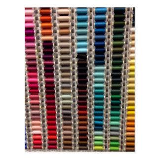 Rainbow Thread Postcards
