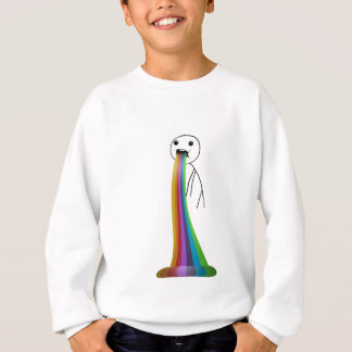 Rainbow throwing up meme sweatshirt