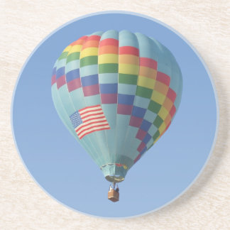 Rainbow Thru Heaven Hot Air Balloon Beverage Coasters