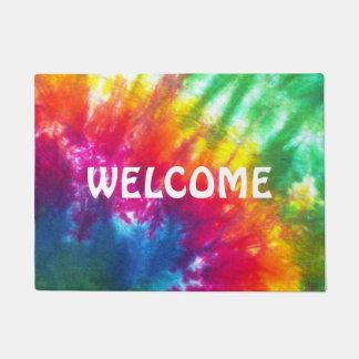 Rainbow Tie-Dye Doormat