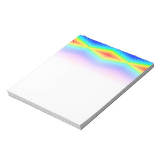 Rainbow tie-dye notepad