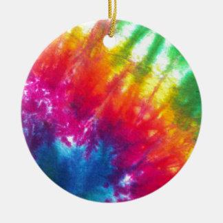Rainbow Tie-Dye Round Ceramic Decoration