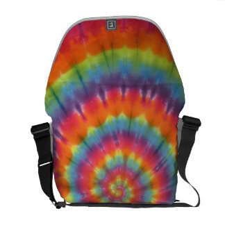 Rainbow Tie Dye Swirl Messenger Bag