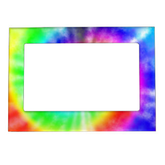 Rainbow Tie Dyed Pattern Magnetic Picture Frame