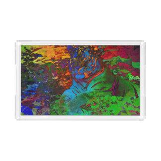Rainbow Tiger Acrylic Tray