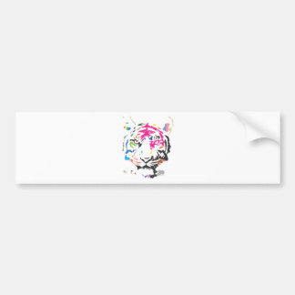 Rainbow Tiger Bumper Sticker