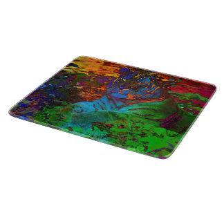 Rainbow Tiger Cutting Board
