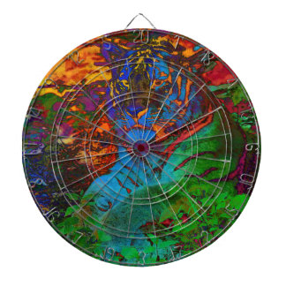 Rainbow Tiger Dartboard