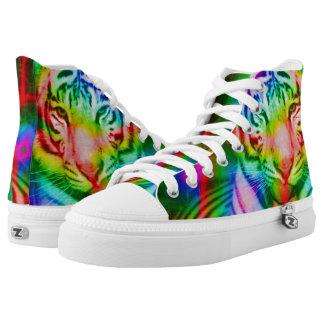 Rainbow Tiger High Tops