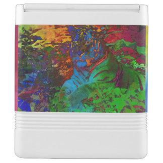 Rainbow Tiger Igloo Cooler