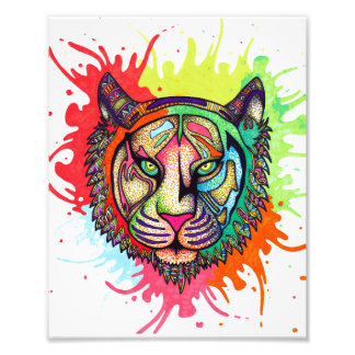 Rainbow Tiger Photo Print