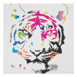 Rainbow Tiger Posters