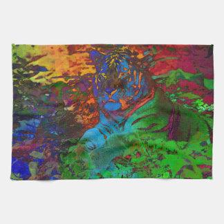Rainbow Tiger Tea Towel