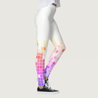 Rainbow Tile Mosaic Fade Equalizer Pattern Leggings