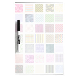 Rainbow tiled squares pattern dry erase board