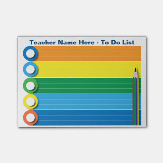 Rainbow To Do List - Personalised Post-it Notes