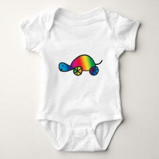 Rainbow Tortoise Baby Bodysuit