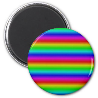 Rainbow touched 6 cm round magnet