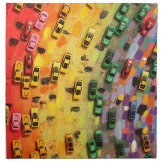 Rainbow Toy Cars Napkin