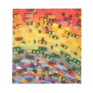 Rainbow Toy Cars Notepad