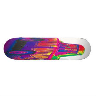 Rainbow Trabant Car, White Back Skateboard Decks