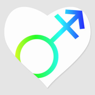 Rainbow Transgender Symbol Stickers