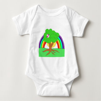 Rainbow tree Baby T Baby Bodysuit