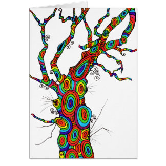 Rainbow Tree - colourful birthday card